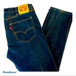 LEVI STRAUSS Men's Dk. Blue 502 Jeans Size W38 L30